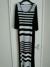 Boat Neck Long Striped Regular Size Dresses for Women