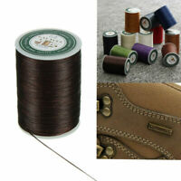 Waxed Thread 0.8mm 90m Polyester Cord Sewing Machine Stitching For Craft Leather
