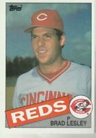 FREE SHIPPING-MINT-1985 Topps #597 Brad Lesley Reds PLUS BONUS CARDS