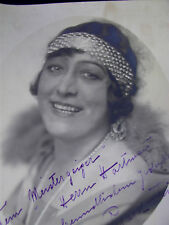 Autogramm/Widmung Louise Theisen-Perrard-Petzl 1932 - Opernsängerin Sopranistin
