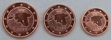 1+2+5 euro cent Estonia 2017 unz