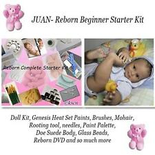 REBORN Starter Beginner Kit, Genesis paints, Mohair, DVD, DOLL KIT- JUAN TODDLER