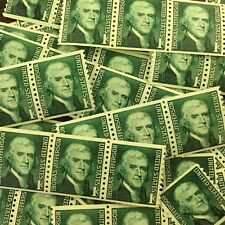 {BJ Stamps} 1299 Thomas Jefferson, President. 100 mint 1 cent coil stamps. 1968.