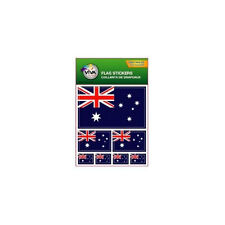 AUSTRALIA , SET OF 7 COUNTRY FLAG VINYL CAR STICKERS , 3 SIZES .. NEW