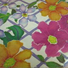Vintage Artfaire Gift Wrap Bright Floral Pink Orange Purple 2 Sheets 20 x 30 In