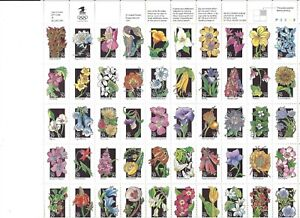 USA Postage Stamps Scott 2647 - 2696 Wildflowers Complete MNH Sheet UR Position