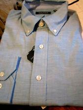 NWT  $65 NAUTICA MENS BUTTON DOWN COLLAR DRESS SHIRT TEAL 16 34/35