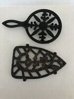 COLT Firearms Cutwork Iron Shape Trivet & FERN STELLER Trivet Vintage Antique