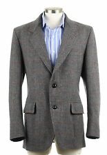Pendleton Norfolk Tweed Action Back Gray WindowPane Sport Coat Jacket Blaze 40 R