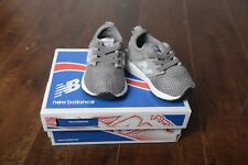 New Balance Grey White Sneaker Infant Toddler Baby Shoe Size 2