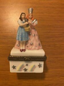 Trinket Box- Cannon Falls Wizard of Oz Dorothy, Toto & Good Witch Glenda/Rainbow