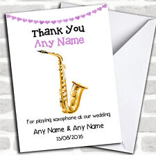 Thank You For Playing Saxophone at Our Wedding Personalised Thank You Card