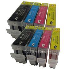 8 cartucce di inchiostro con chip per Canon Pixma IP 3500