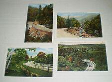 Four Postcard Views of Mohawk Trail, Mass. (circa 1920s)