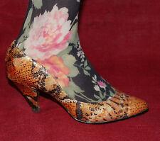 Servas de cuero vintage zapatos pumps 37 Leather heels Snake Python serpiente animal