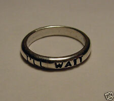 """""""I'll Wait"""" Forgiven Ring, Sterling Silver"""