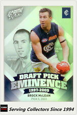 2013 Select AFL Prime Draft Pick Eminence Card DPE11 Brock McLean (Carlton)
