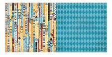 BoBunny 12x12 papel scrapbooking, feliz colas Colección Piel Moda X 2 Hojas