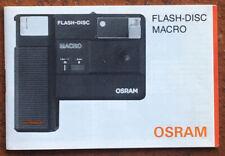 Osram Flash-Disc Macro  - Anleitung