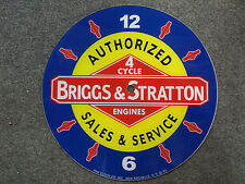 "*NEW*14.25"" BRIGGS AND STRATTON MOTOR GAS OIL ROUND GLASS FACE FOR PAM CLOCK"