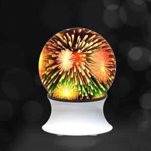 3D Fireworks Light with Wireless Speaker USB Colorful Table Lamp Ambient Night L