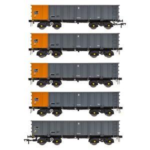 Accurascale 2100BSC 00 gauge, PTA/JTA+JUA Bogie Tippler Pack - British Steel Blu