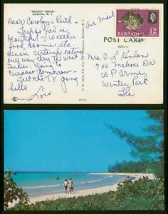 Mayfairstamps Barbados 1968 Rockley Beach To Winter Park FL Chrome Postcard wwp8