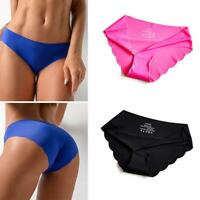 3Pack Women Underpants Seamless Lingerie Briefs Low-Waist Underwear Panties NICE
