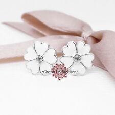 Pandora, White Primrose Flower Silver Stud S925 Earrings , NEW,  290569EN12