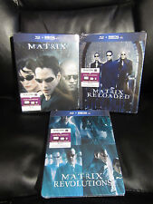 The Matrix Trilogy Blu-Ray Steelbook 3 Pack Revolutions Reloaded Sealed New