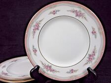 "Vintage Set of 3 Wedgwood China ROSALIE Salad Plates 8-1/8"" Made in England"