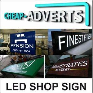 LED Sign Aluminium Composite Tray / Signs/ Signage 350cm x 60cm + BESPOKE