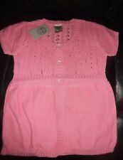 Girls Pumpkin Patch Short Sleeve Pink Cardigan Size 7