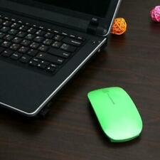 Green Wireless Mouse Slim 2.4 GHz USB Optical Cordless Scroll for PC Mac Laptop
