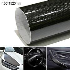 10cmx152cm 5D Fibre Carbone Film Autocollant Sticker Adhesif Pour Voiture Auto