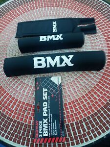 NOS Old School BMX Pads...3 Piece ..Pad Set*** Black