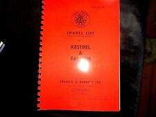 Francis Barnett Kestrel & Falcon 1954 Parts manual  3 & 4 speed FB05
