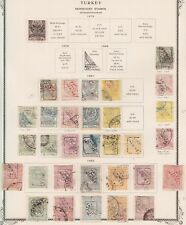 1879 1891 1892 TURKEY OVP. NEWSPAPER STAMPS OLD PAGE ALBUM MI. 36,64 -68A,74- 78