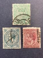 1875-77 Spain , War Tax Stamps