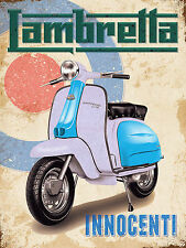Lambretta, Retro ALLUMINIO METALLO VINTAGE SIGN MOTO