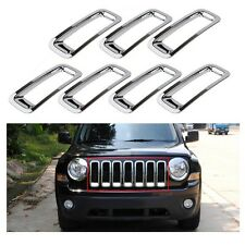 FIT For 2011-2017 Jeep Patriot Chrome Front Grille Grill Insert Frame Cover Trim