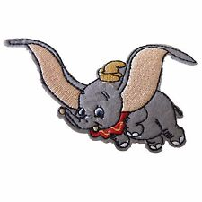 """Dumbo Character Cartoon Patch Embroideried Iron On Elephant Applique 3.8""""X2.2"""""""
