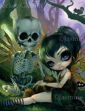 Eve & Rib Jasmine Becket-Griffith CANVAS PRINT steampunk fairy skeleton goth art