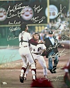 Rose Carlton Schmidt 1980 Phillies Team Signed 16x20 Photo Fanatics + MLB Holo