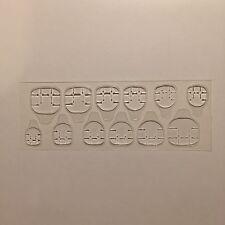 Pestañas De Uñas (x12). adhesivo transparente para fijar clavos falsos. Pegatinas. en Stock Reino Unido