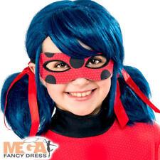 Miraculous Ladybug Wig Girls Fancy Dress Superhero Kids Childs Costume Accessory