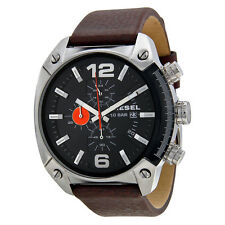 Diesel Men's DZ4204 Advanced Chronograph Black Dial Brown Leather Watch