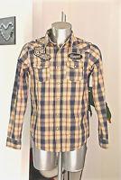 jolie chemise carreaux western cow boy homme KAPORAL buchi taille M  COMME NEUVE