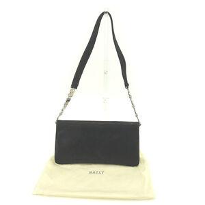 Bally Shoulder bag B logos Black Silver Woman Authentic Used Y3993