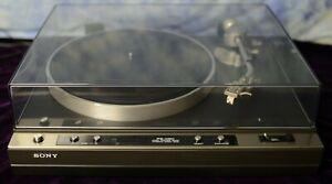 Vintage Sony PS-X50 Stereo Turntable + Stanton 500 Cartridge *EUC*
